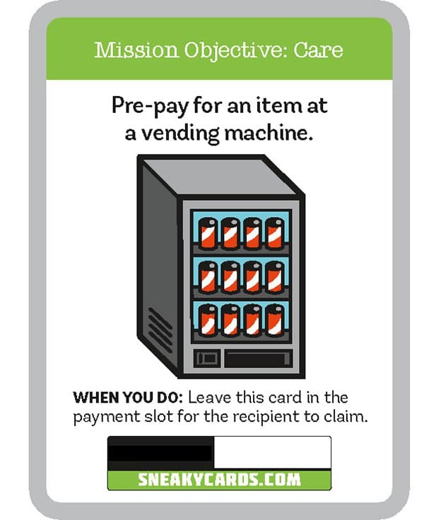 card game sneaky cards vending machine