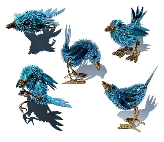 cd-animal-sculptures-blue wren