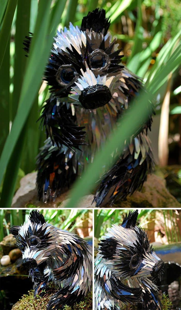 cd-animal-sculptures-panda in bush