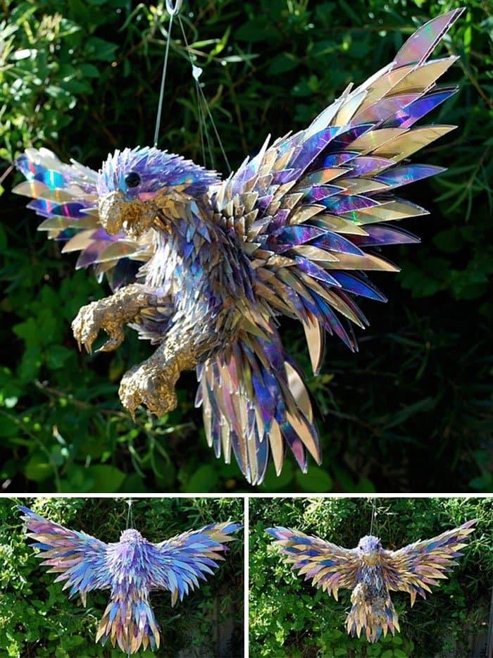 cd-animal-sculptures-peregrine falcon purple