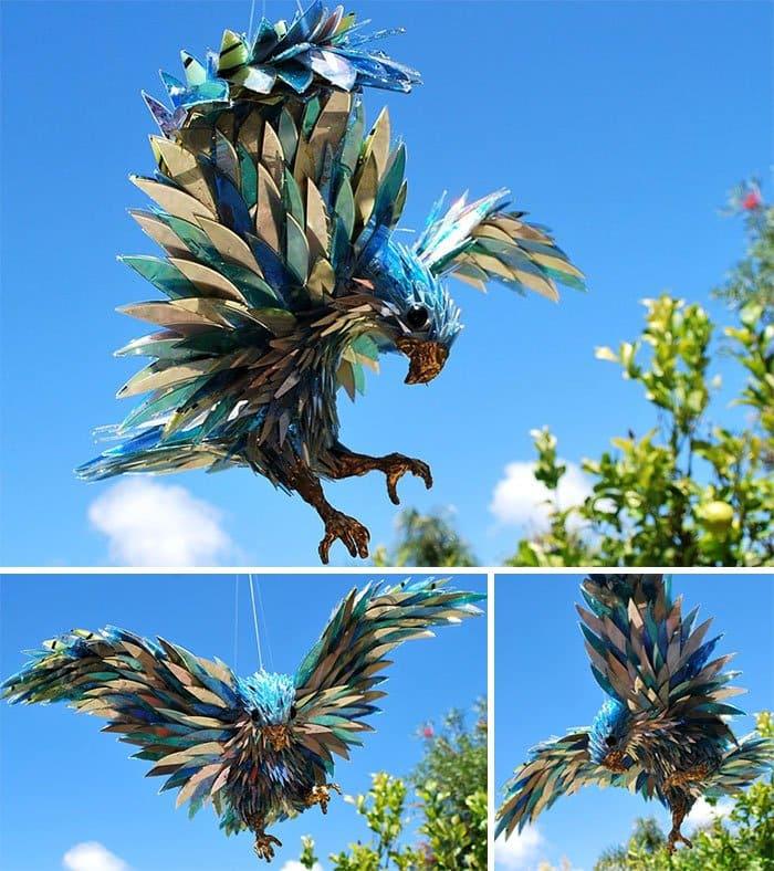 cd-animal-sculptures-peregrine falcon