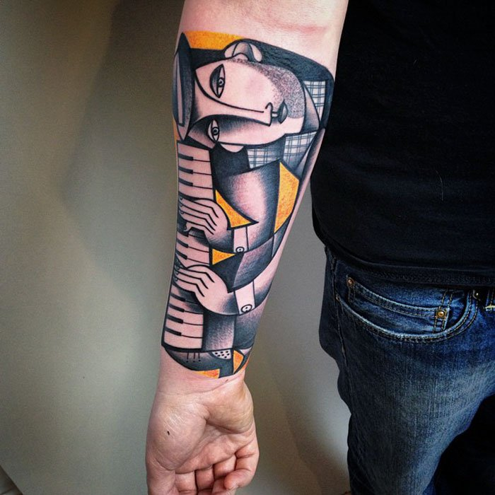 cubism inspired tattoo