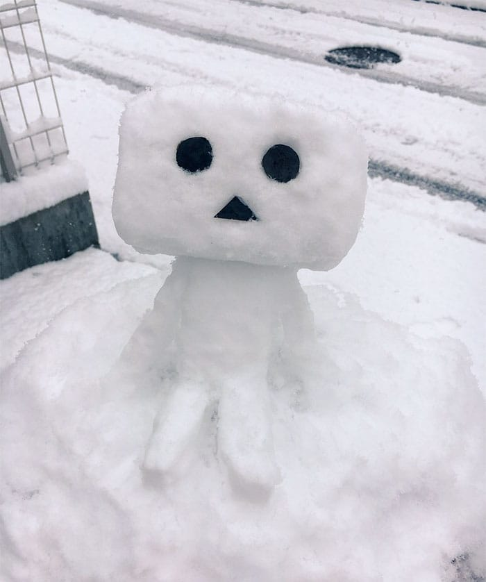 danbo japan snow sculpture