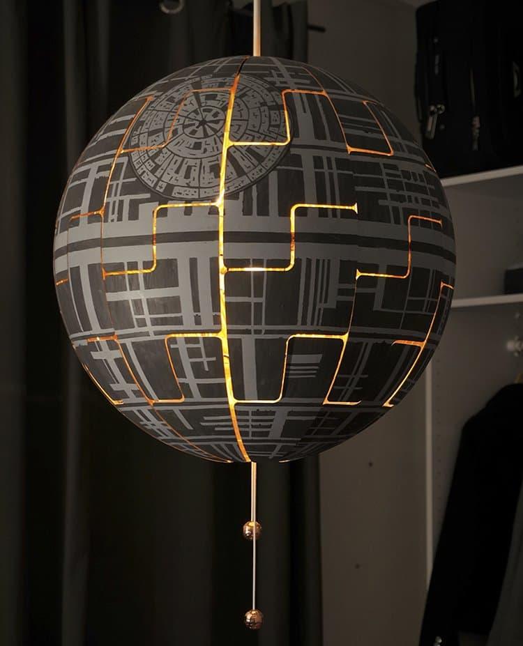 death star IKEA lamp