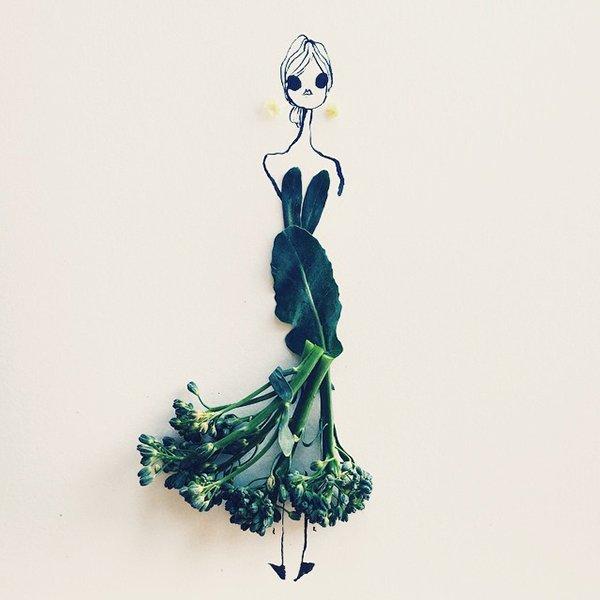 fashion sketches food brocollini