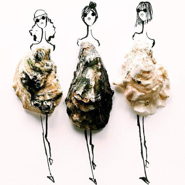 fashion sketches food oyster