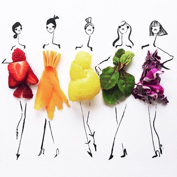fashion sketches food