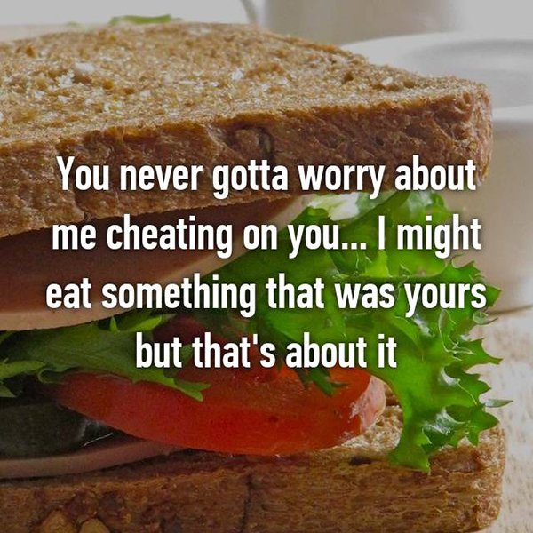 foodie problems cheating