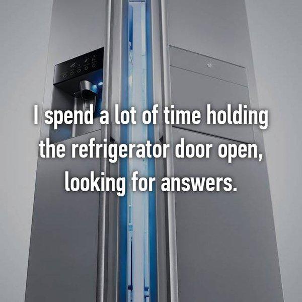 foodie problems fridge door open