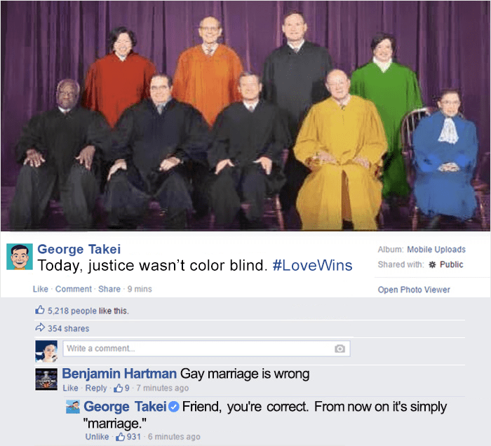 funny-george-takei-comebacks gay marriage