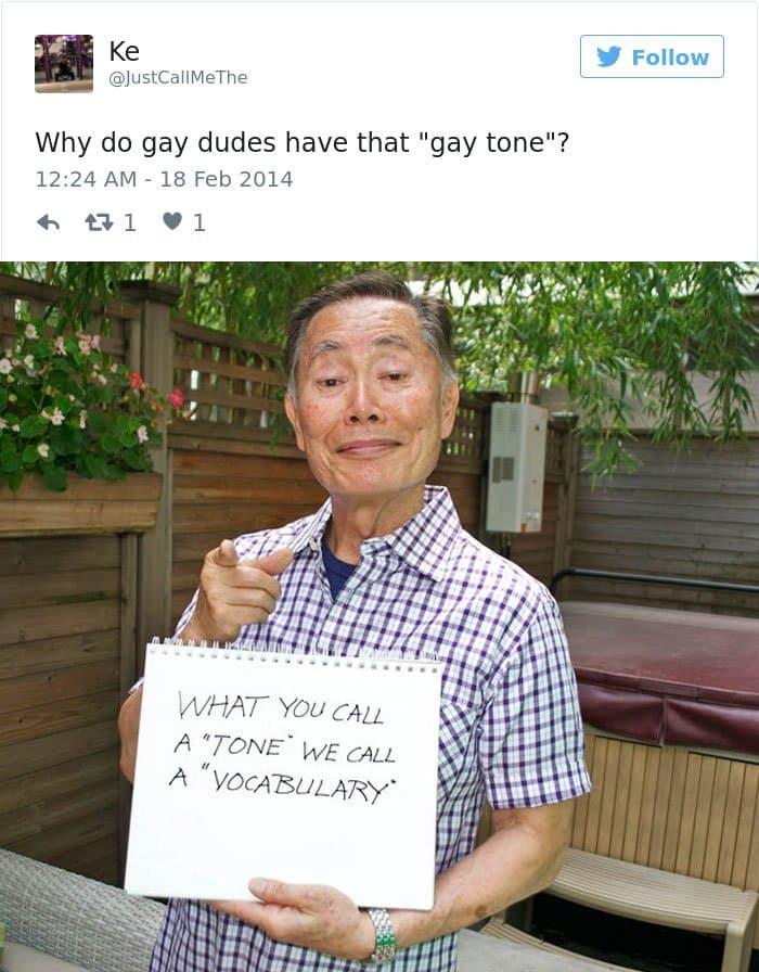funny-george-takei-comebacks gay tone
