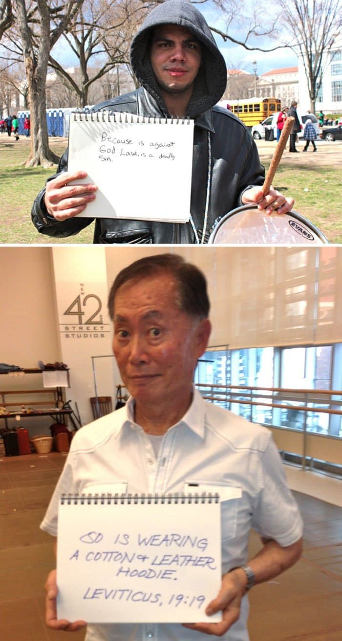funny-george-takei-comebacks so is wearing a cotton and leather hoodie