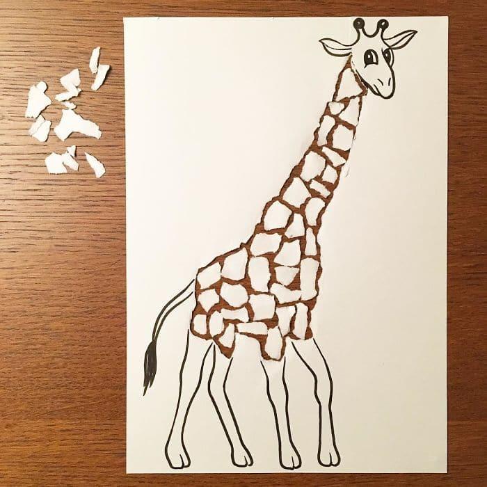 giraffe-3d-paper-art-huskmitnavn