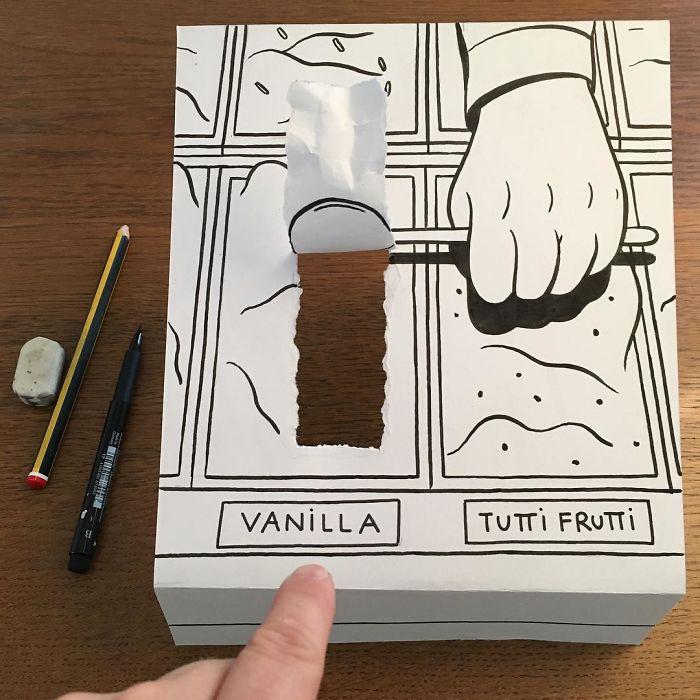 ice-cream-3d-paper-art-huskmitnavn