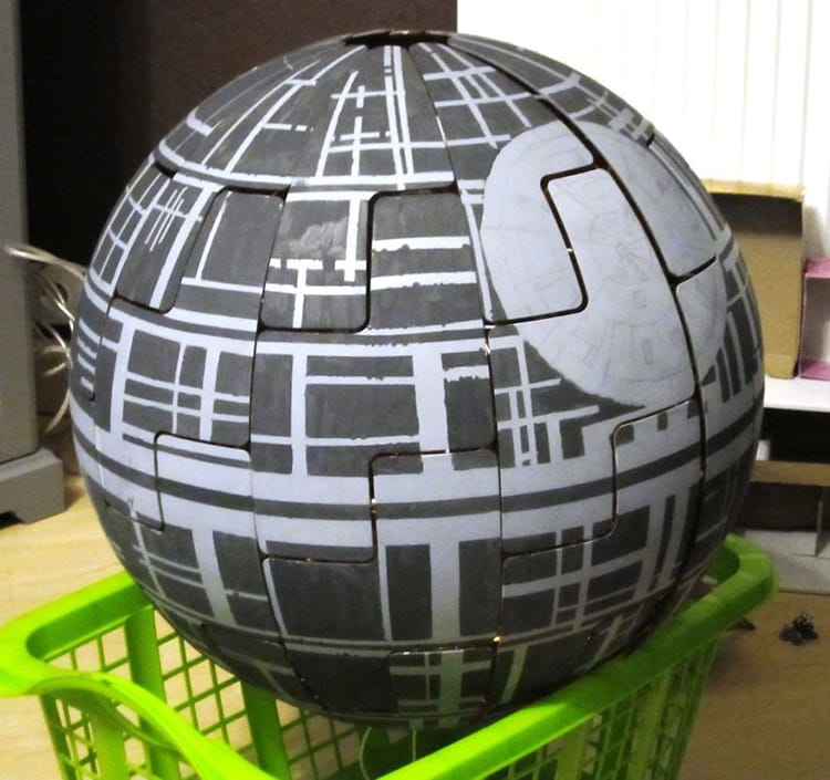 ikea lamp death star hand painted