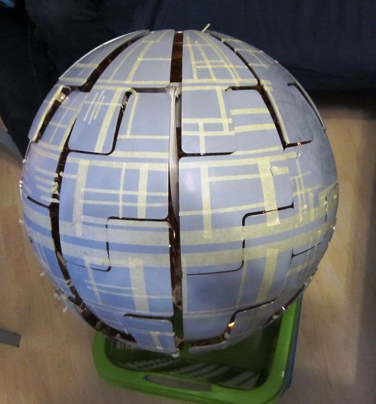 ikea lamp death star masking tape
