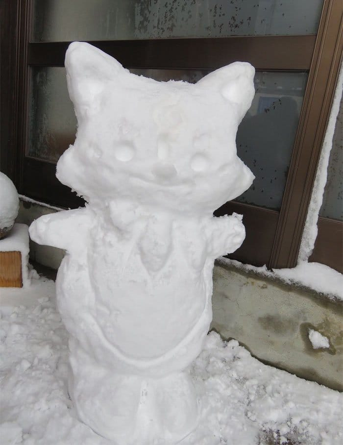 konnosuke japan snow sculpture