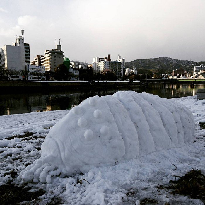 largo ohmu japan snow sculpture