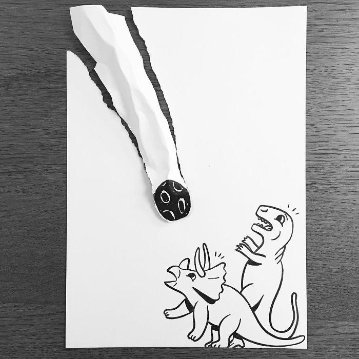 meteor-3d-paper-art-huskmitnavn