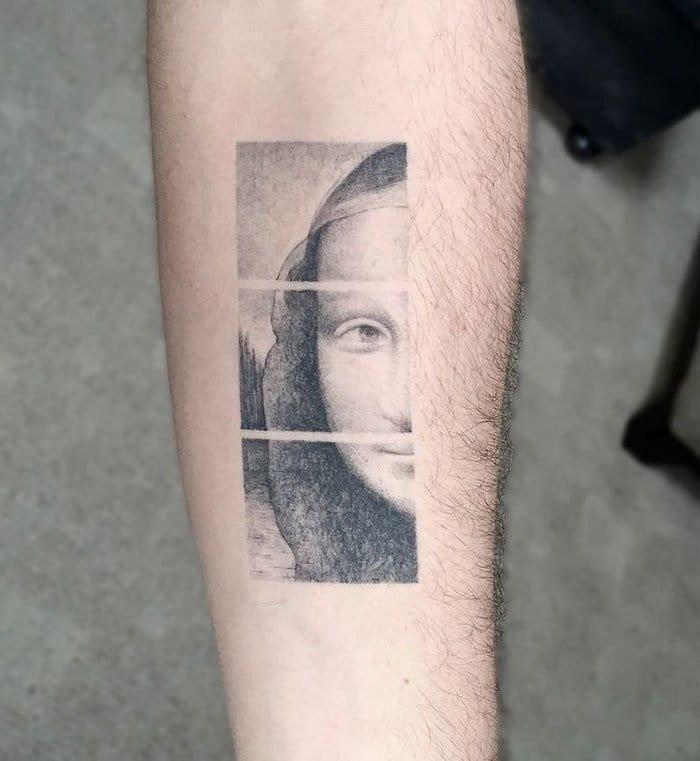mona lisa da vinci tattoo
