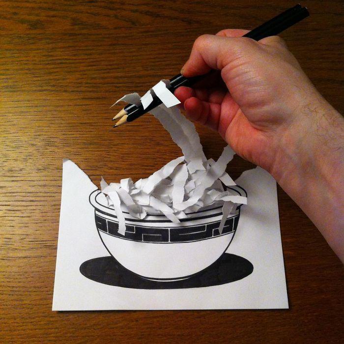 noodles-3d-paper-art-huskmitnavn