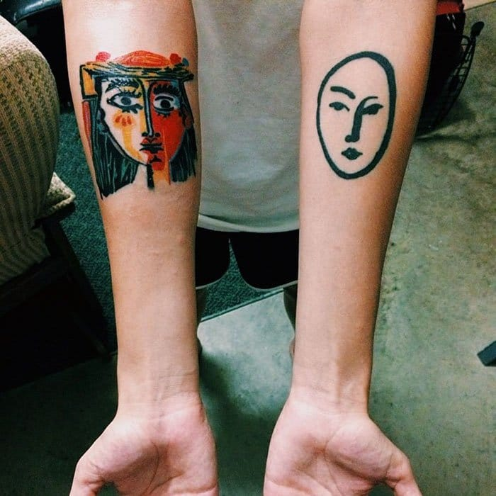 picasso and matisse tattoo