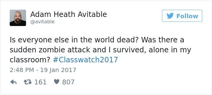 professor tweet is everyone dead