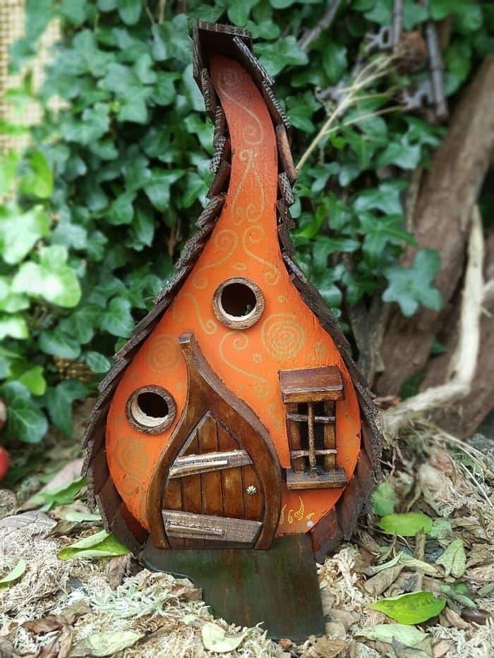 pumpkin lodge fairy tale bird houses