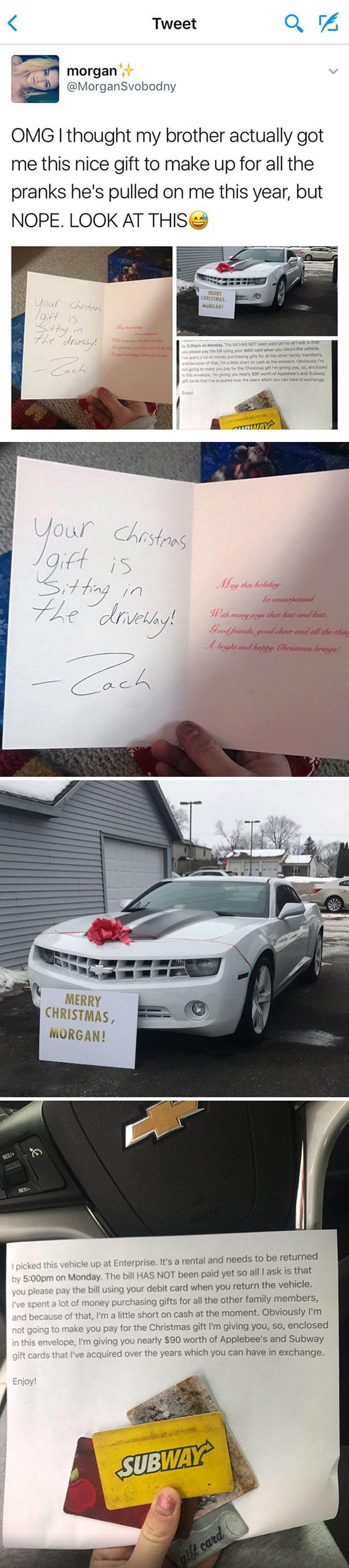 sibling-prank-car-rental-xmas-gift
