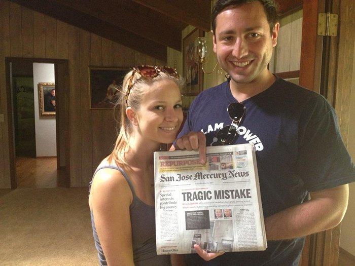 sibling pranks newspaper wedding day