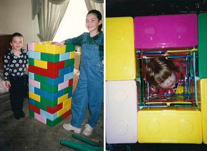 sibling pranks trapped sister in lego