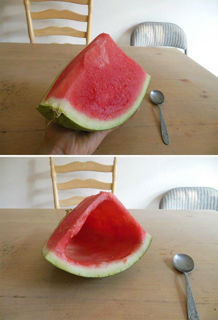 sibling pranks watermelon prank