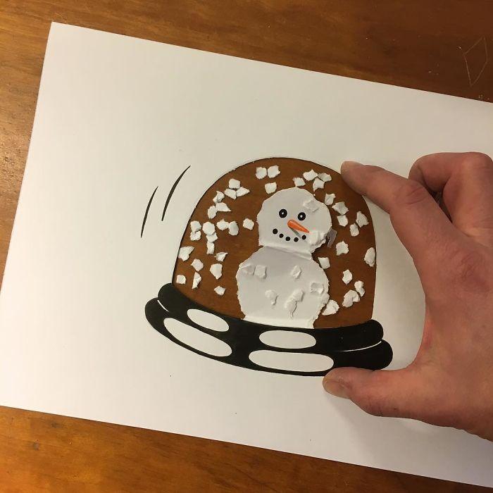 snowglobe-3d-paper-art-huskmitnavn