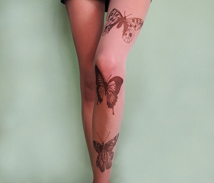 tattoo-tights butterfly