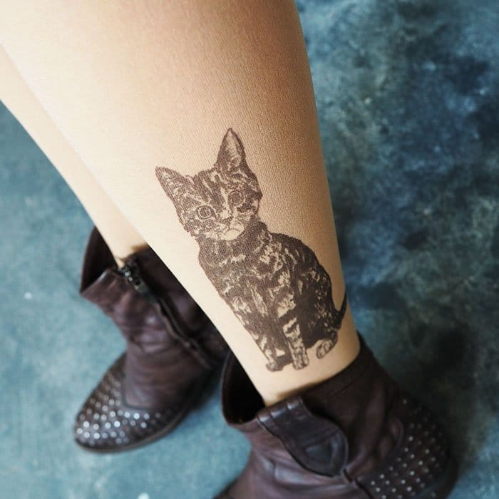 tattoo-tights cat shin