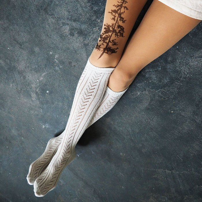 tattoo-tights pine tree thighs