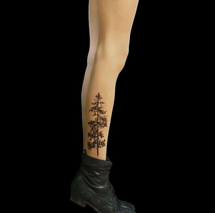 tattoo-tights pine tree