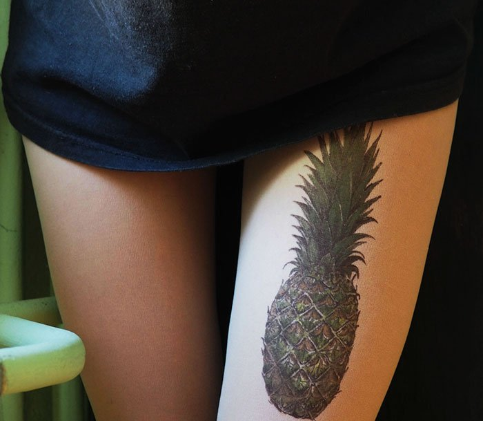 tattoo-tights pineapple