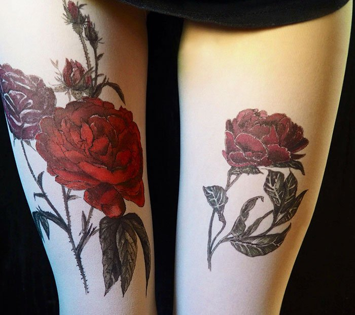 tattoo-tights roses