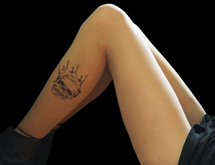 tattoo-tights skull crown