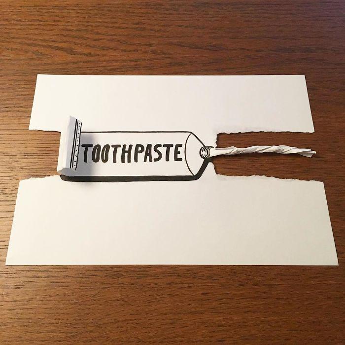 toothpaste-3d-paper-art-huskmitnavn
