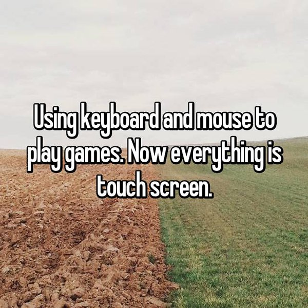 Inconveniences From The Past keyboard and mouse to play games