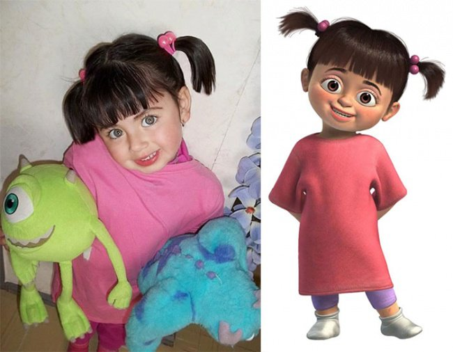 Cartoon Characters Alongside Their Real Life Dopplegangers