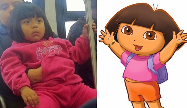 Real Life Cartoon Characters dora the explorer