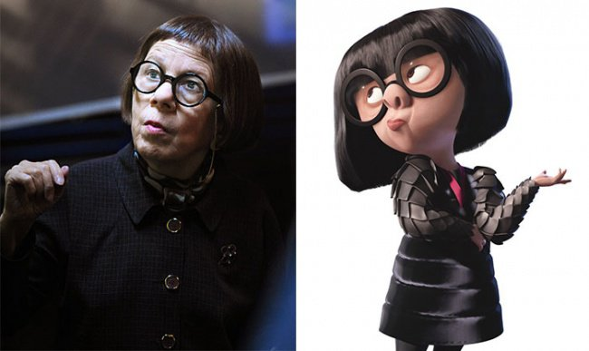Real Life Cartoon Characters edna mode incredibles