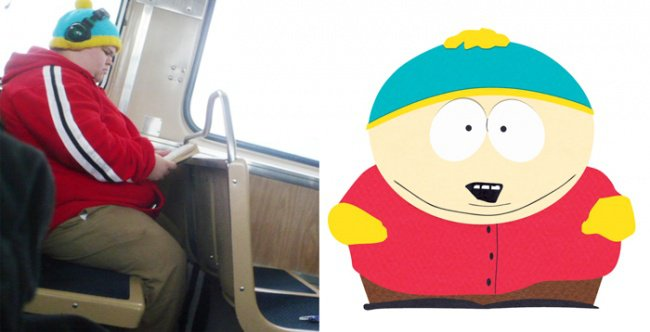Real Life Cartoon Characters eric cartman south park