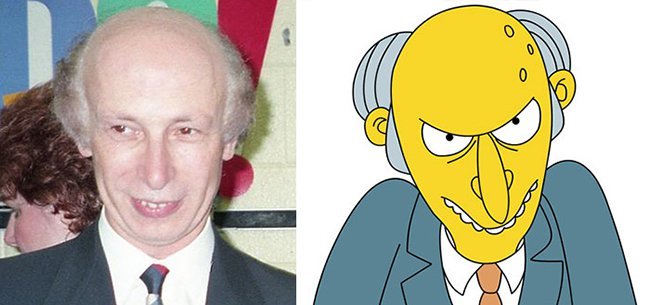 Real Life Cartoon Characters mr burns