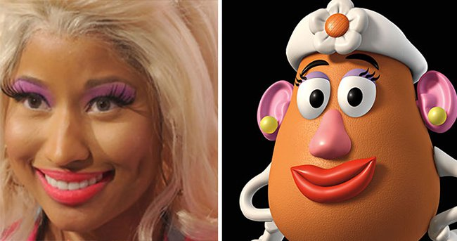 Real Life Cartoon Characters nicki minaj mrs potato head