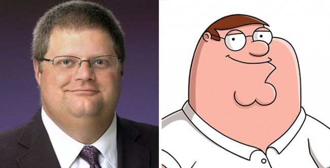 Real Life Cartoon Characters peter griffin family guy