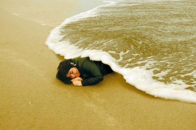 Shots Taken Perfect Moment ocean blanket